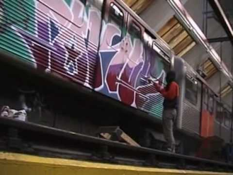 Graffiti Hamburg - Barmbek Subway Garage breakin
