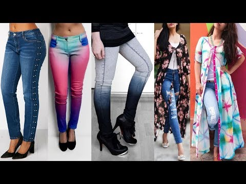Latest Trendy Fashion Girls Jeans Pants Suitable for Tops Kurtis for Girls 2018