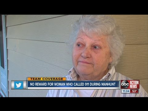 No reward for woman who called 911 amid manhunt