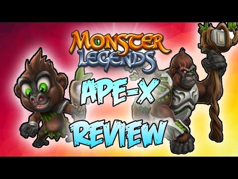 Monster Legends Review - Ape X -  Premiere Monster