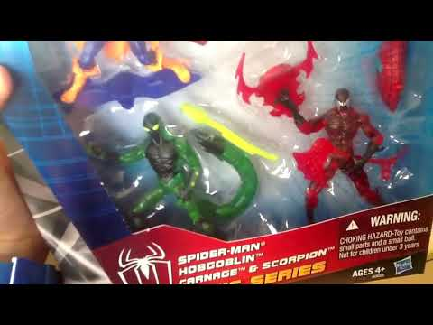 Amazing Spiderman ULTIMATE GIFT SET Carnage Scorpion Hobgoblin - Walmart Ultimate Spider-Man