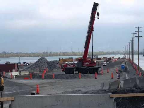 Les travaux sur le nouveau pont Champlain