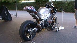 Norton isle of man VS  Ducati Moto GP  Goodwood FOS 2012