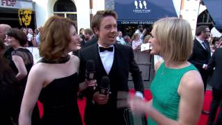 Jodie Whittaker & Andrew Buchan - BAFTA Television Awards Red Carpet in 2014