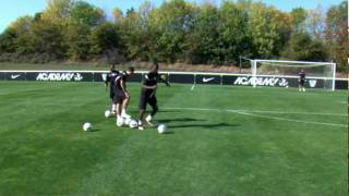 Soccer shooting exercise | Combination play drill | Nike Academy
