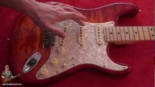 Close up Review Custom Made Flame Fender Strat 69 Hendrix Tone With Many Features tonymckenzie.com