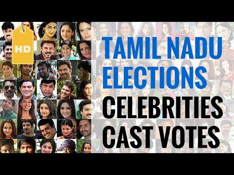 Celebrities cast votes in Tamil Nadu | HD Images