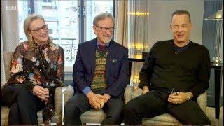 Meryl Streep, Tom Hanks, Steven Spielberg. The Andrew Marr Show. The Post, Oprah... BBC1. 14.1.2018