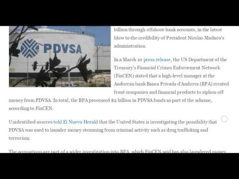 U.S.Accuses Venezuela's Oil Co.of $2 bil Money Laundering Scheme