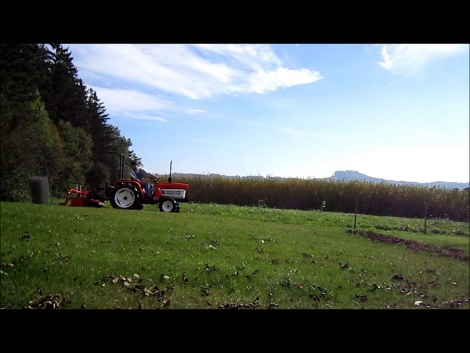 Kubota RS 1300 tiller conversion to 3 point hitch - YouTube