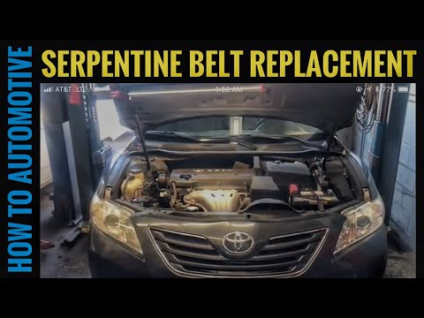 How to Replace the Serpentine Belt on a 2006-2011 Toyota Camry with 2.4L Engine