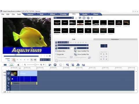 Ulead VideoStudio Video Tutorial - Titling Technique