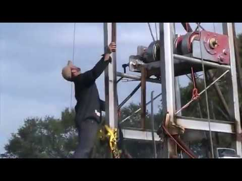 Home built oil well workover/drilling rig