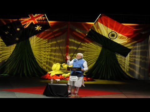 Narendra Modi's speech at Sydney's Allphones Arena - Part 1