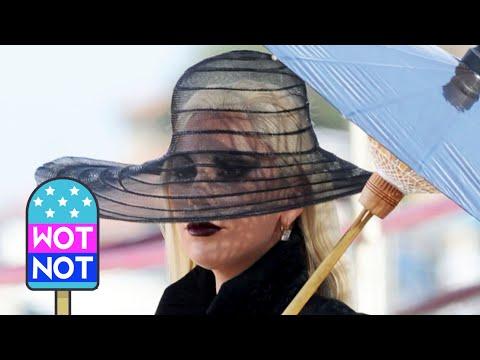 Lady Gaga filming American Horror Story Hotel Season 5 in Los Angeles