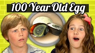 KIDS vs. FOOD #21 - 100 YEAR OLD EGG (CENTURY EGG)