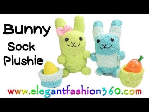 DIY Kawaii Bunny - Sock Plushie/Stuffed Animal/ - Húsvéti nyuszi készítése zokniból