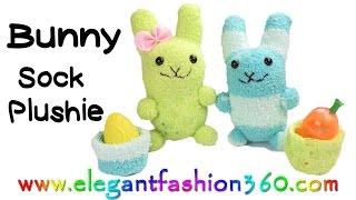DIY Kawaii Bunny - Sock Plushie/Stuffed Animal/Easter How to by Elegant Fashion 360