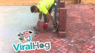 This Is How You Lay Bricks || ViralHog