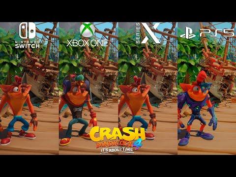 Crash Bandicoot 4: It's About Time Switch vs. Xbox One vs. Series X vs. PS5 Direct Comparison