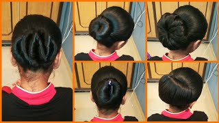 Anjali's Bun Hairstyles Part 12 | 5 Very Easy Bun Hairstyles | How to Bun | Hairstyle Tutorial
