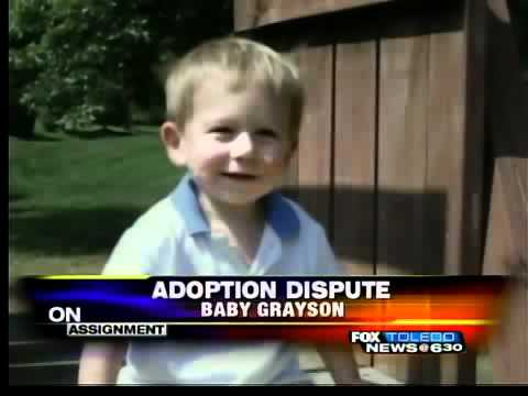 Grayson adoption halted for appeal