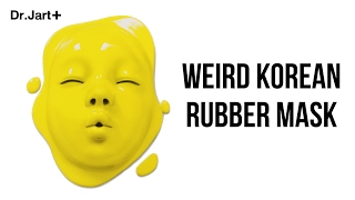 Weird Korean Rubber Mask- TINA TRIES IT