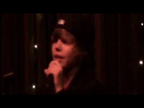 Justin singing Common Denominator - Justin Bieber Original Music Videos