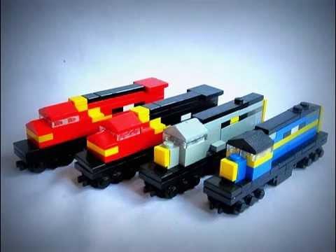 Как сделать лего поезд своими руками