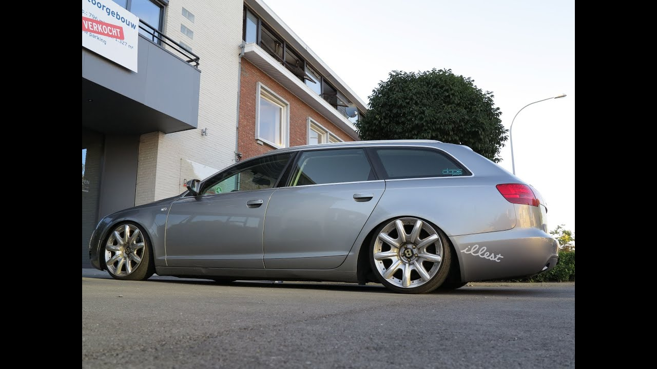 Extreme low audi a6 avant with bentley rims in brugge belgium youtube