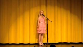 Anya Dennison sings O Mio Babbino Caro February 8 2013 at Pine View School Variety Show