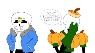 Sans And Papyrus are getting ready for Halloween! (Undertale Comic Dub Compilation)