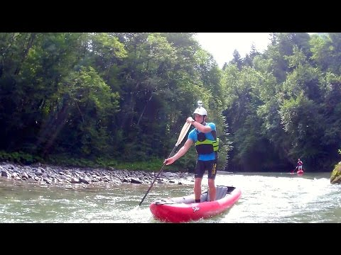 Nouveau parc de wakeboard sur c bles au lac k nogami - Test kayak gonflable ...