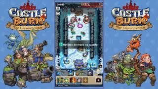 Castle Burn gameplay - Tatica para avançar a liga ouro [ DICAS ]