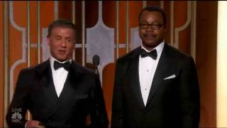 GOLDEN GLOBE 2017 - Sylvester Stallone e Carl Weathers premiano Moonlight
