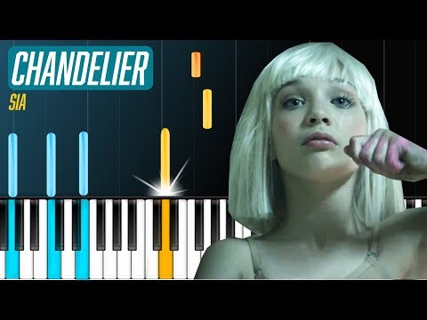 """Sia - """"Chandelier"""" Piano Tutorial - Chords - How To Play - Cover"""