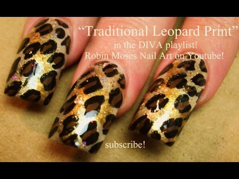 Traditional Leopard Print Nail Art