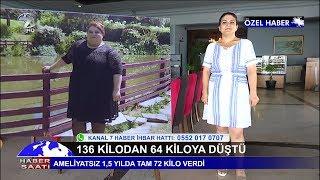 ''Ameliyatsız'' 136 Kilodan 64 Kiloya Düştü!