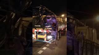 5 Injured In Express Bus-Trailer Crash