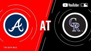 Braves at Rockies 8/26/19 | MLB Game of the Week Live on YouTube