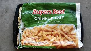 BUYERS BEST Crinkle Cut French Fried Potatoes Bought at  Harris Teeter
