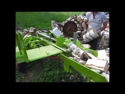 Savadarbis malkų skaldiklis - homemade log splitter