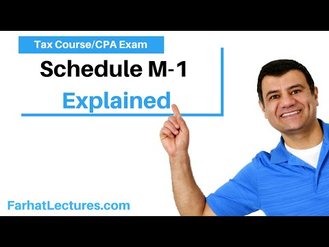 Schedule M-1 ch 17 p 12-CPA exam regulation