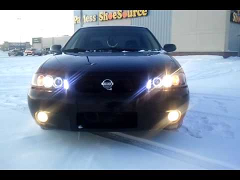 LED halo projector headlights/2003 Nissan Sentra SE-R spec ...