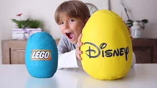 Disney Lego Huge Play Doh Egg Fun - Mickey and Toy Story