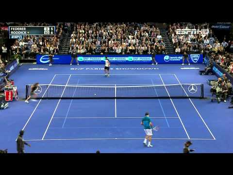 BNP Paribas 2012 Showdown   Roddick vs Federer  HD