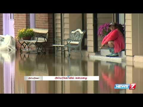 Flood alert for Central U.S after Storms hit | World | News7 Tamil