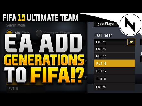 EA ADDED GENERATIONS TO FIFA!!! - FIFA 15 Ultimate Team
