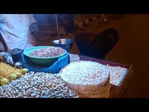 Street Food - Pop Corn from a Roadside vendor Indian Style