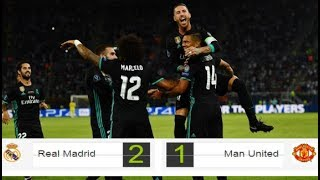 Real Madrid vs Manchester United 2 -1 Supercopa de Europa (2017) Resumen